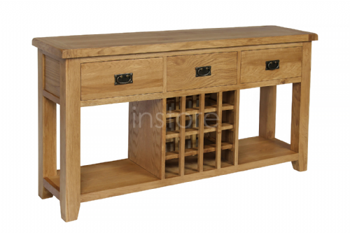 Loxley Oak Wine Table/Sideboard